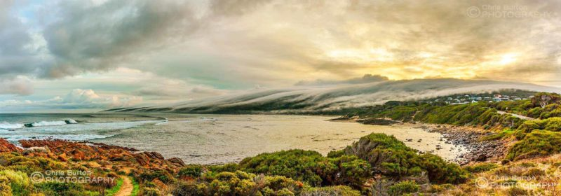 Morning Fog at Yallingup South West Australia Beach Photography, by Chris Burton.  Yallingup, near Dunsborough in the Margaret River region.