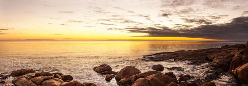 Sunrise from Old Dunsborough South West Australian Beach Photography, by Chris Burton.  Dunsborough in the Margaret River region.