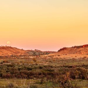 Newman Moon, Pilbara Australiaan Landscape Photography, by Chris Burton.