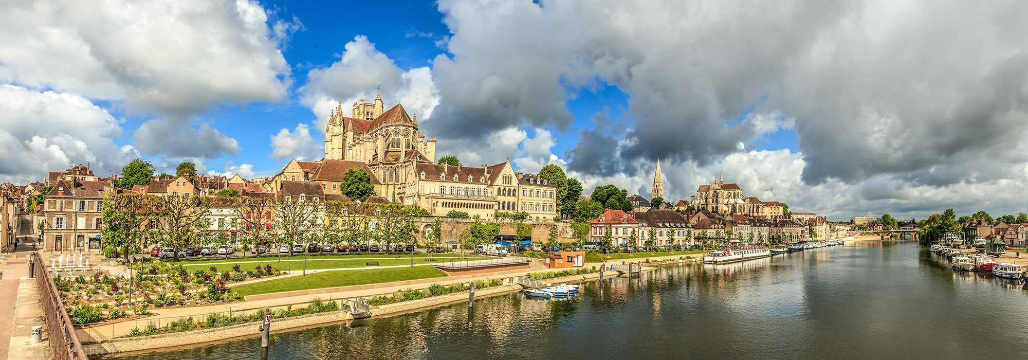 The Village of Auxerre, France International Landscape Photography, by Chris Burton.